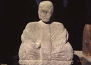 山野権現神社境内 田之神像