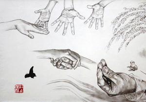 【終了しました】 伊佐市出身の漫画家・井上雄彦さん作の墨絵「承」が、伊勢志摩サミット開催を記念して伊勢神宮にて特別公開!